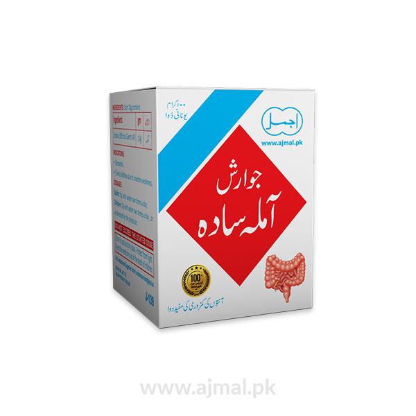 Jawarish Amla Sada-act as stomachic-checks the bilious diarrhea, reduces the hepatic hyperthermia-Beneficial in weakness of intestines and diarrhea