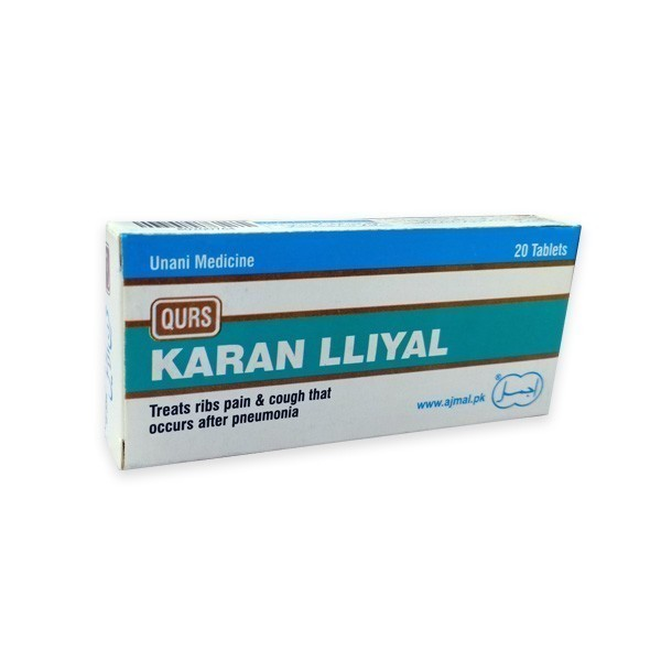 Qurs Karan lliyal is effective in ribs pain-useful in respiratory tract infections, cough after pneumonia